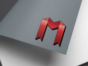 M Logo Mockup Graphic