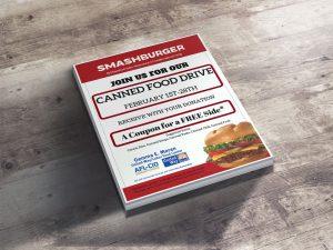 Smashburger Flyer Mockup