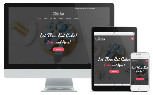 TheCakeBar Website Design Devices